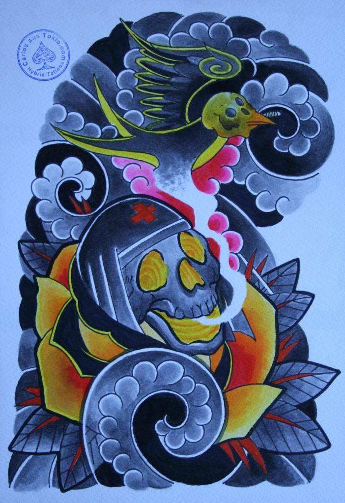 totenkopf tattoo carlos aus tokio16