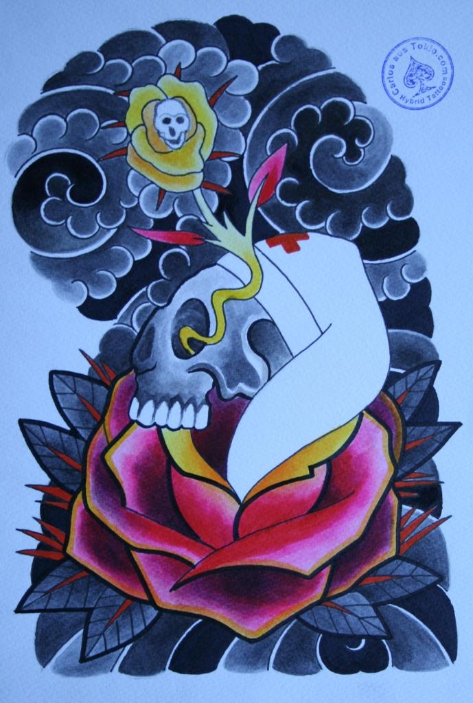totenkopf tattoo carlos aus tokio17