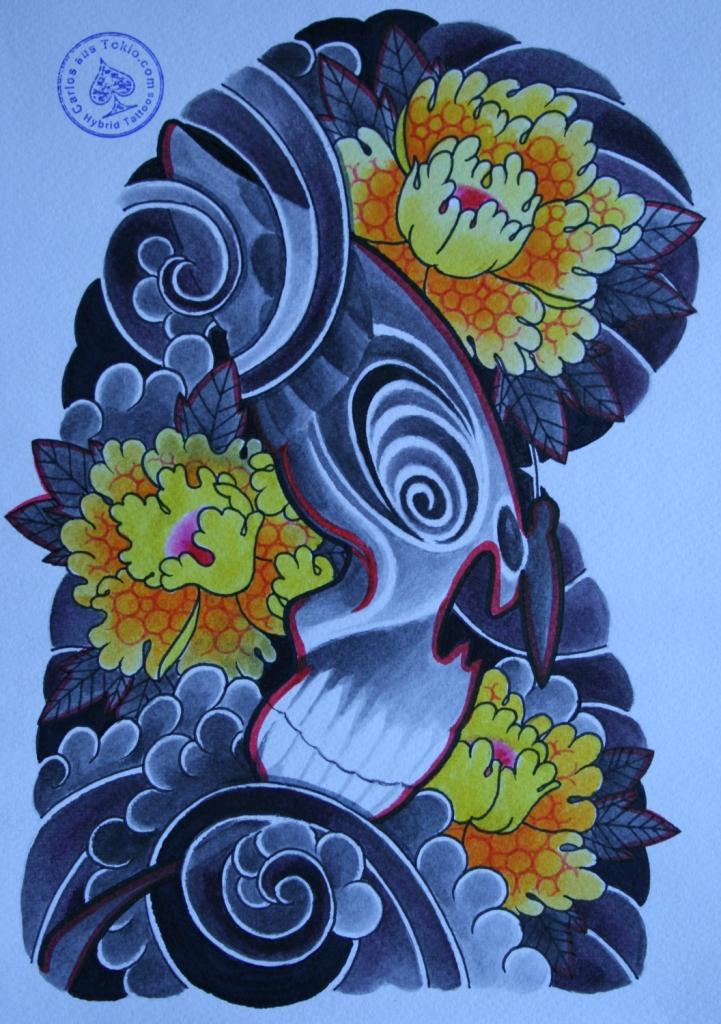 totenkopf tattoo carlos aus tokio19