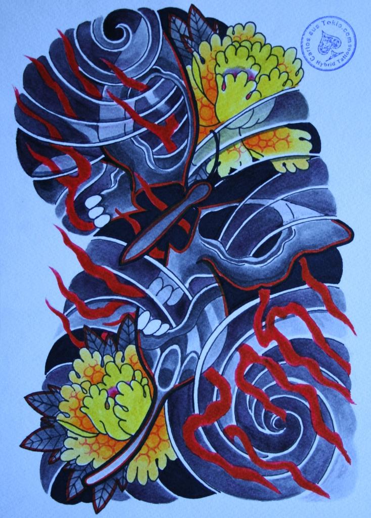 totenkopf tattoo carlos aus tokio20