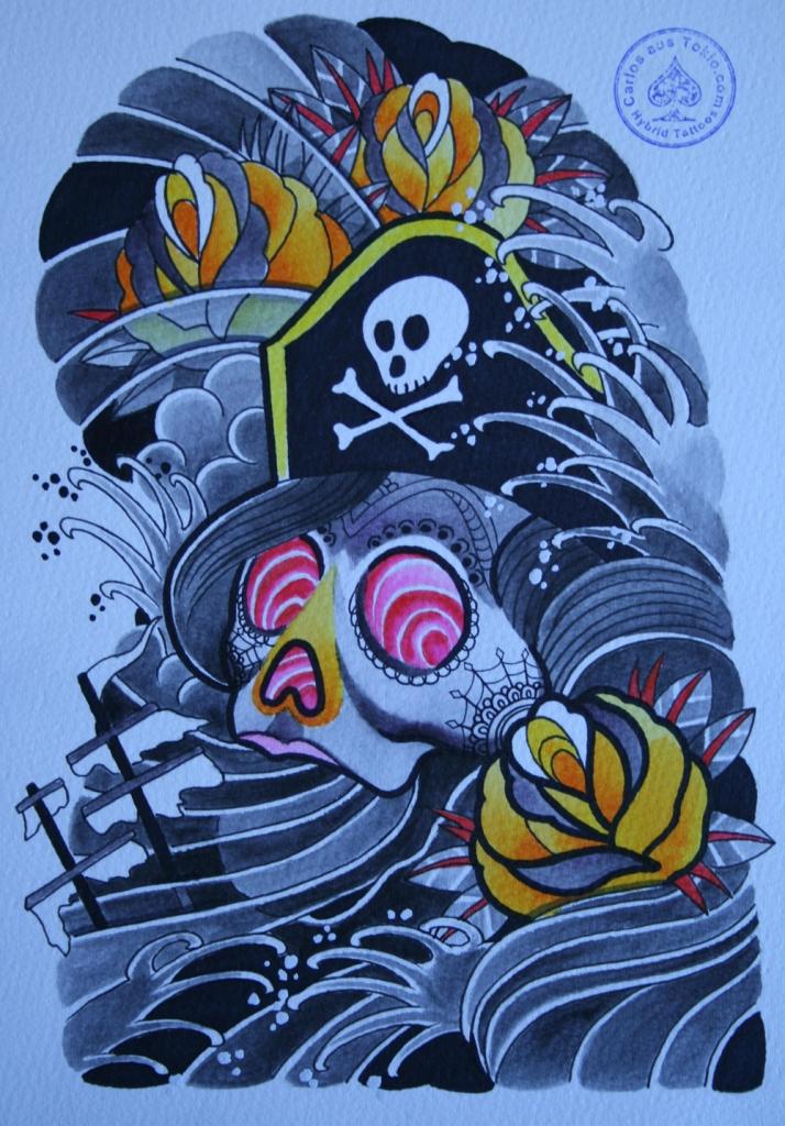 totenkopf tattoo carlos aus tokio29