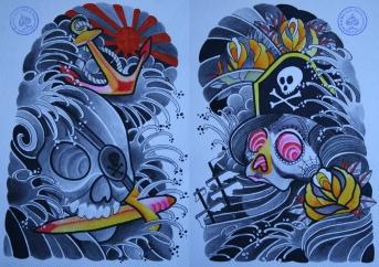 totenkopf tattoo carlos aus tokio30