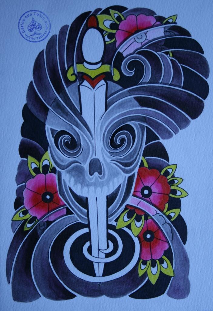 totenkopf tattoo carlos aus tokio4