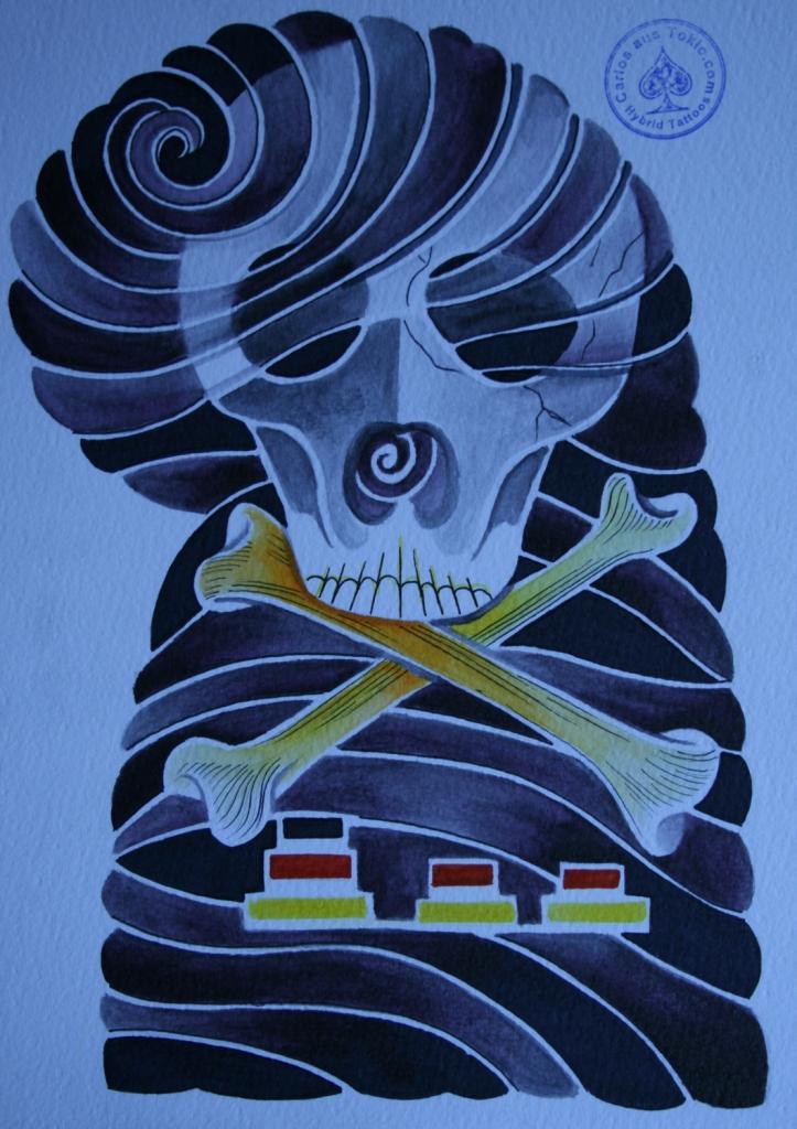 totenkopf tattoo carlos aus tokio8