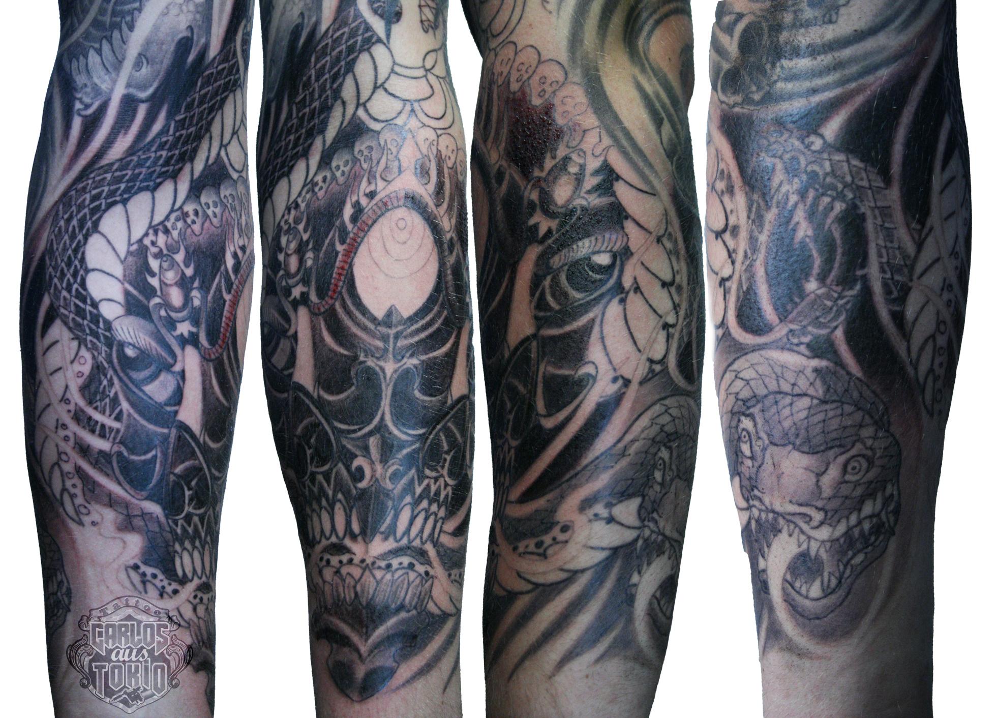 tibetisch totenkopf tattoo tibetan skull 3 carlos tattoo. Black Bedroom Furniture Sets. Home Design Ideas