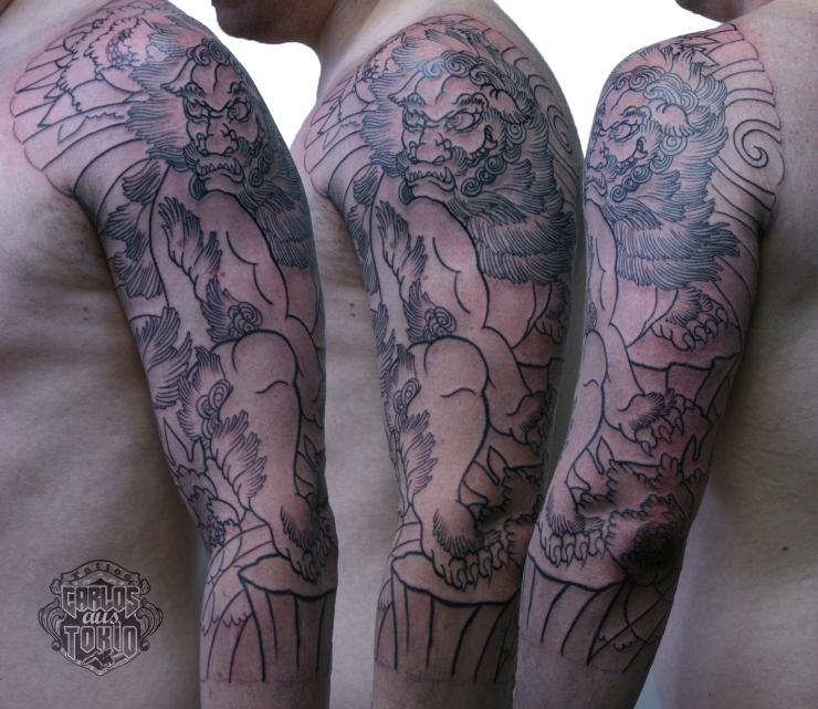唐獅子Fu-dog tattoo Carlos aus Tokio