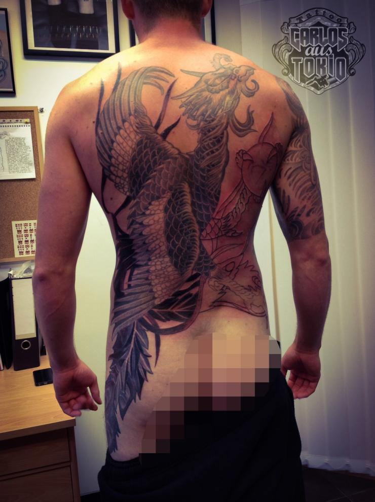 japanische phoenix tattoo1
