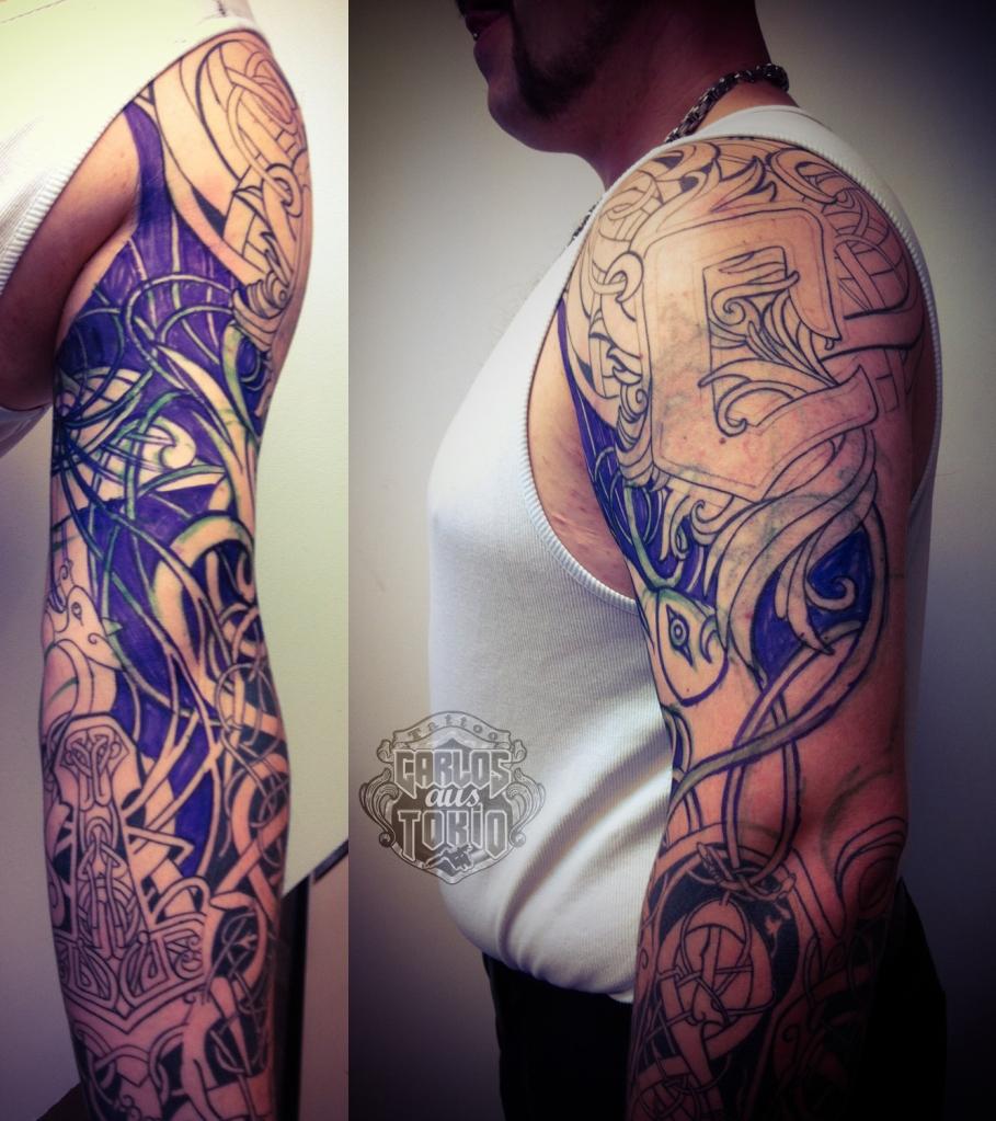 wikinger tribal tattoo carlos aus tokio1
