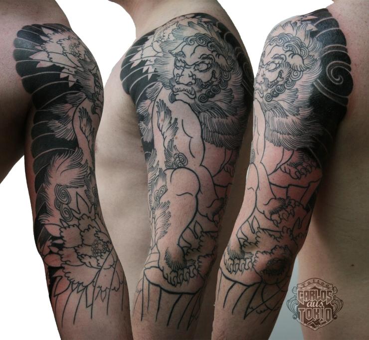 japanische lowenhund tattoo