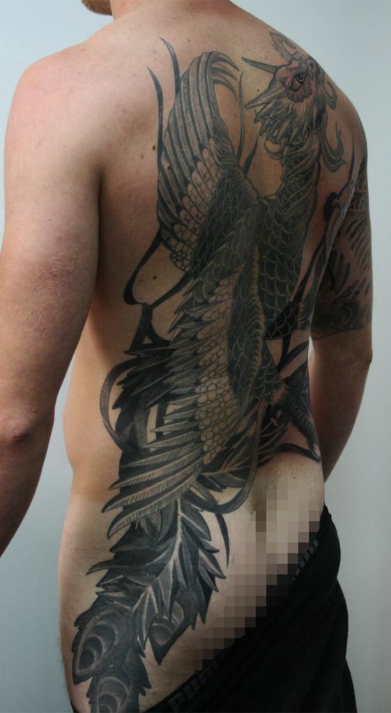 japanische phoenix tattoo2