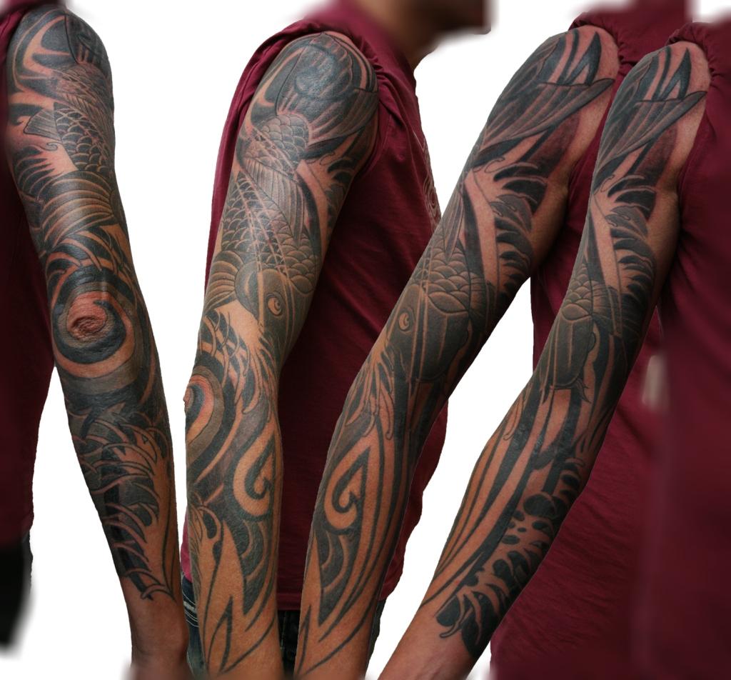 koi tribal tattoo1