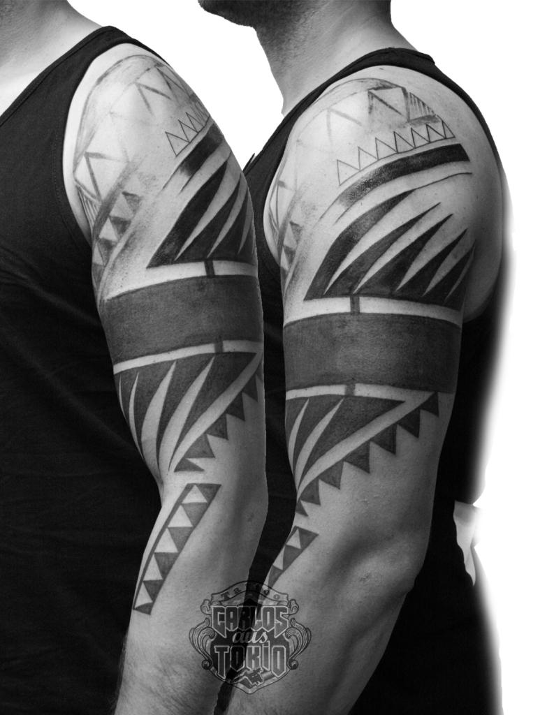 tribal black work tattoo deutschland1