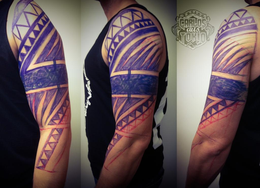 tribal black work tattoo deutschland2
