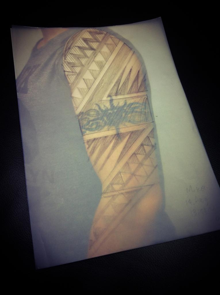 tribal black work tattoo deutschland3