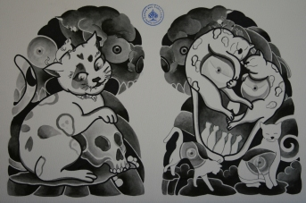 skull tattoo骸骨タトゥー0
