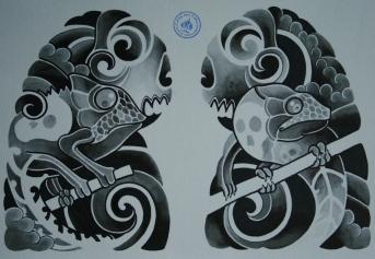 skull tattoo骸骨タトゥー11