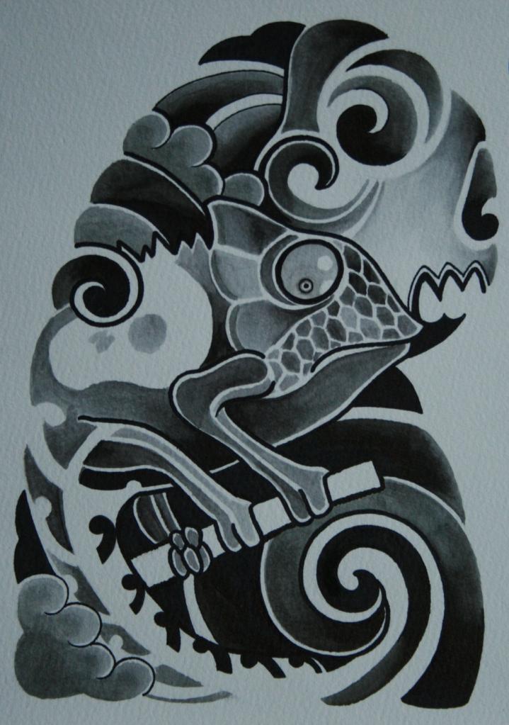 skull tattoo骸骨タトゥー12