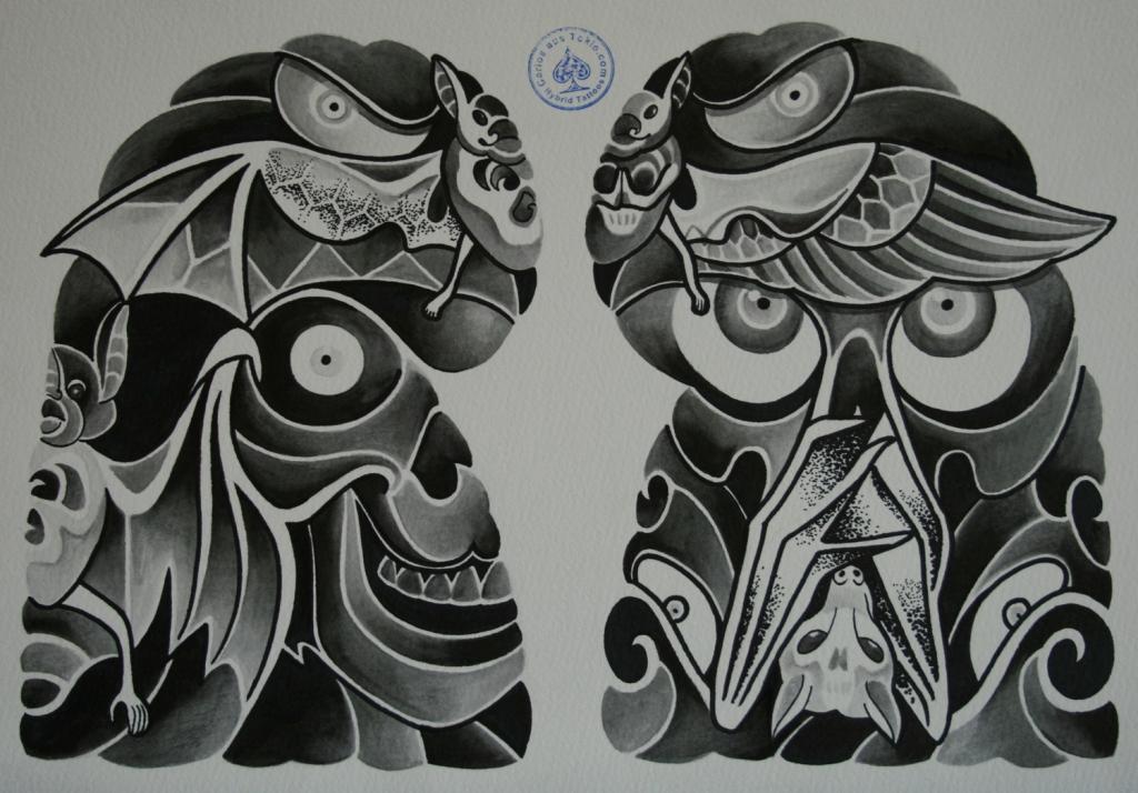 skull tattoo骸骨タトゥー2