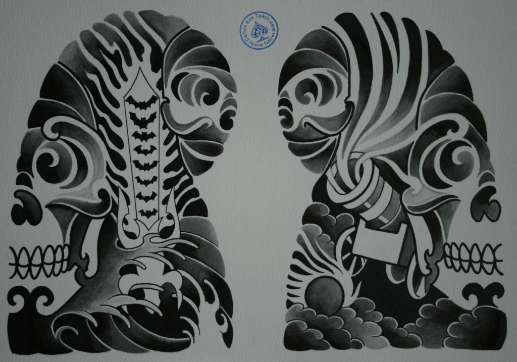 skull tattoo骸骨タトゥー4