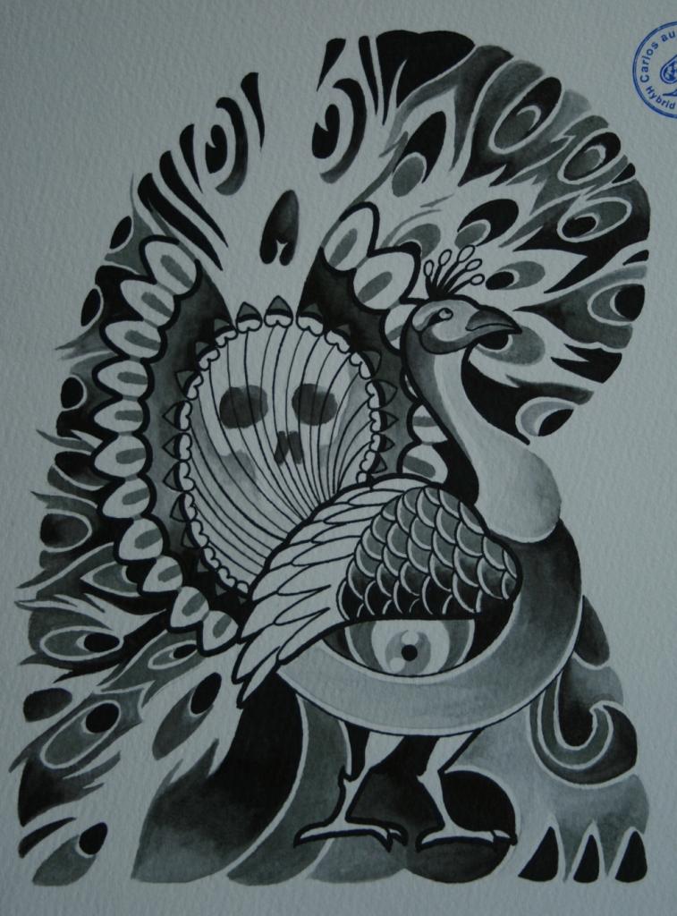 skull tattoo骸骨タトゥー5