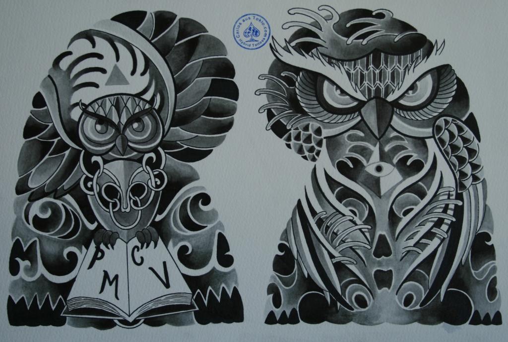 skull tattoo骸骨タトゥー7