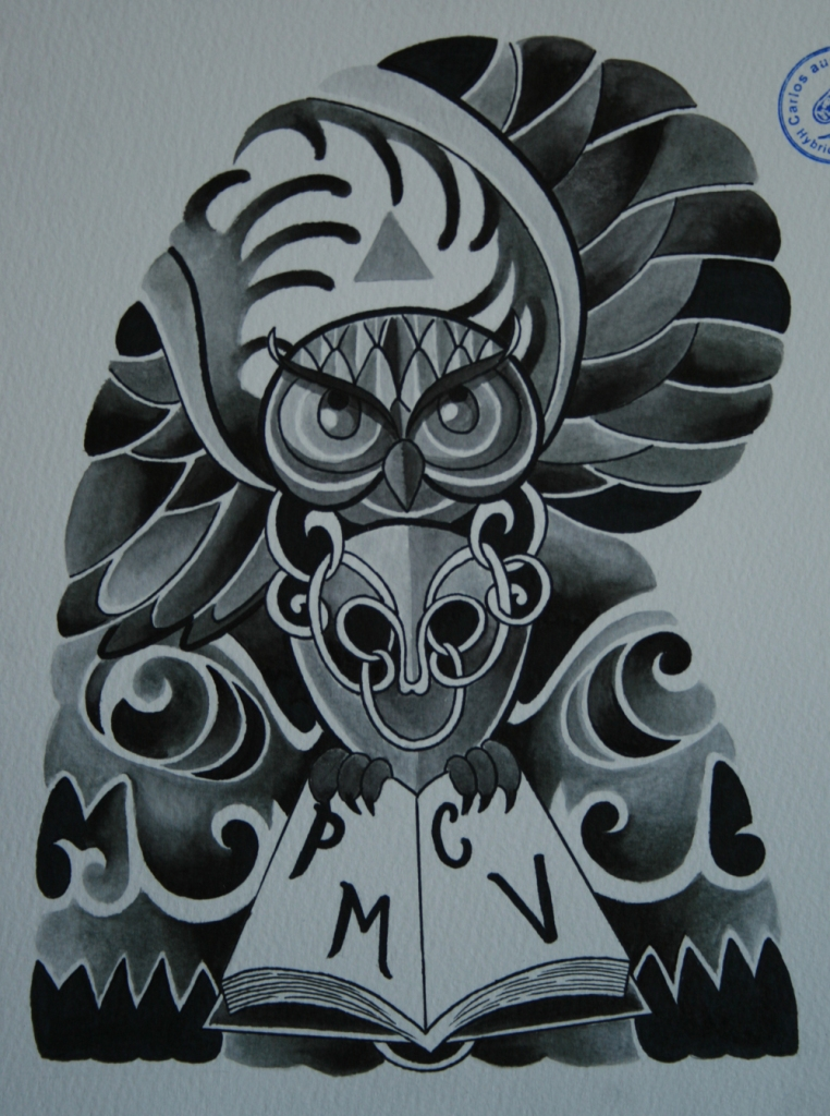 skull tattoo骸骨タトゥー8