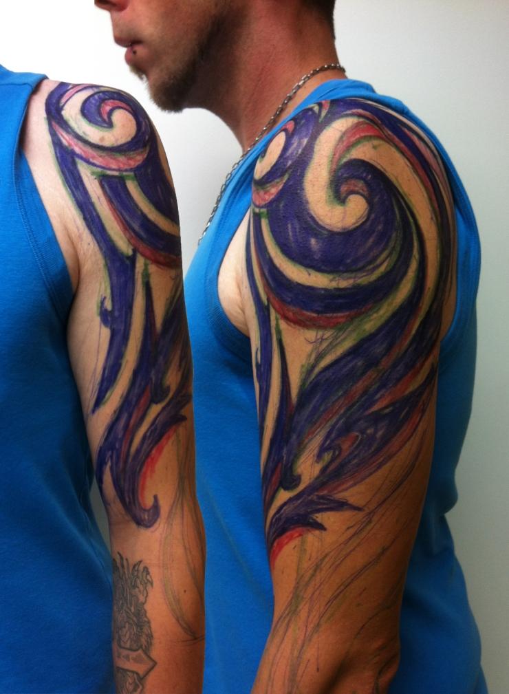 tribal black work tattoo deutschland4