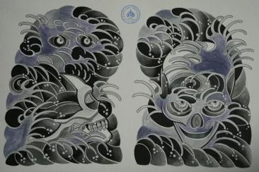 skull tattoo骸骨タトゥー1
