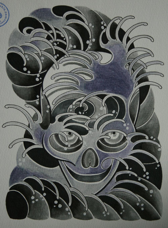 skull tattoo骸骨タトゥー3