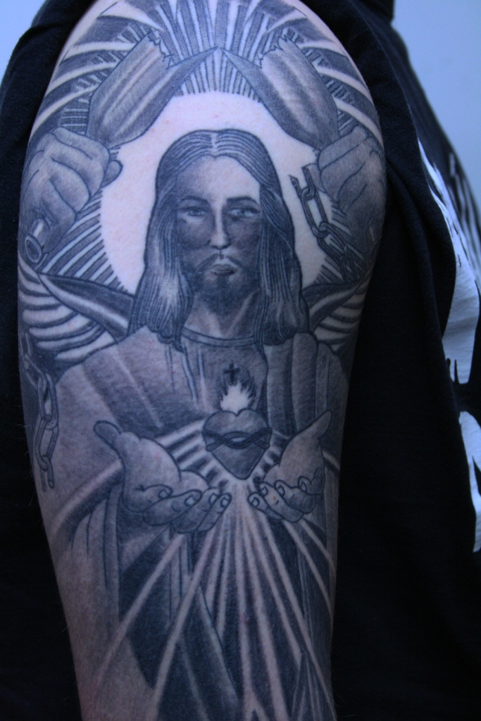 Christus Tattoo Cologne Carlos2