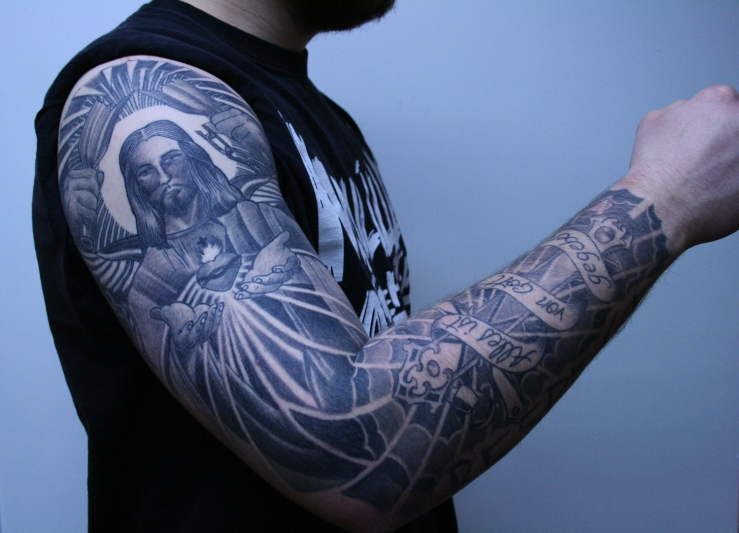 Christus Tattoo Cologne Carlos3