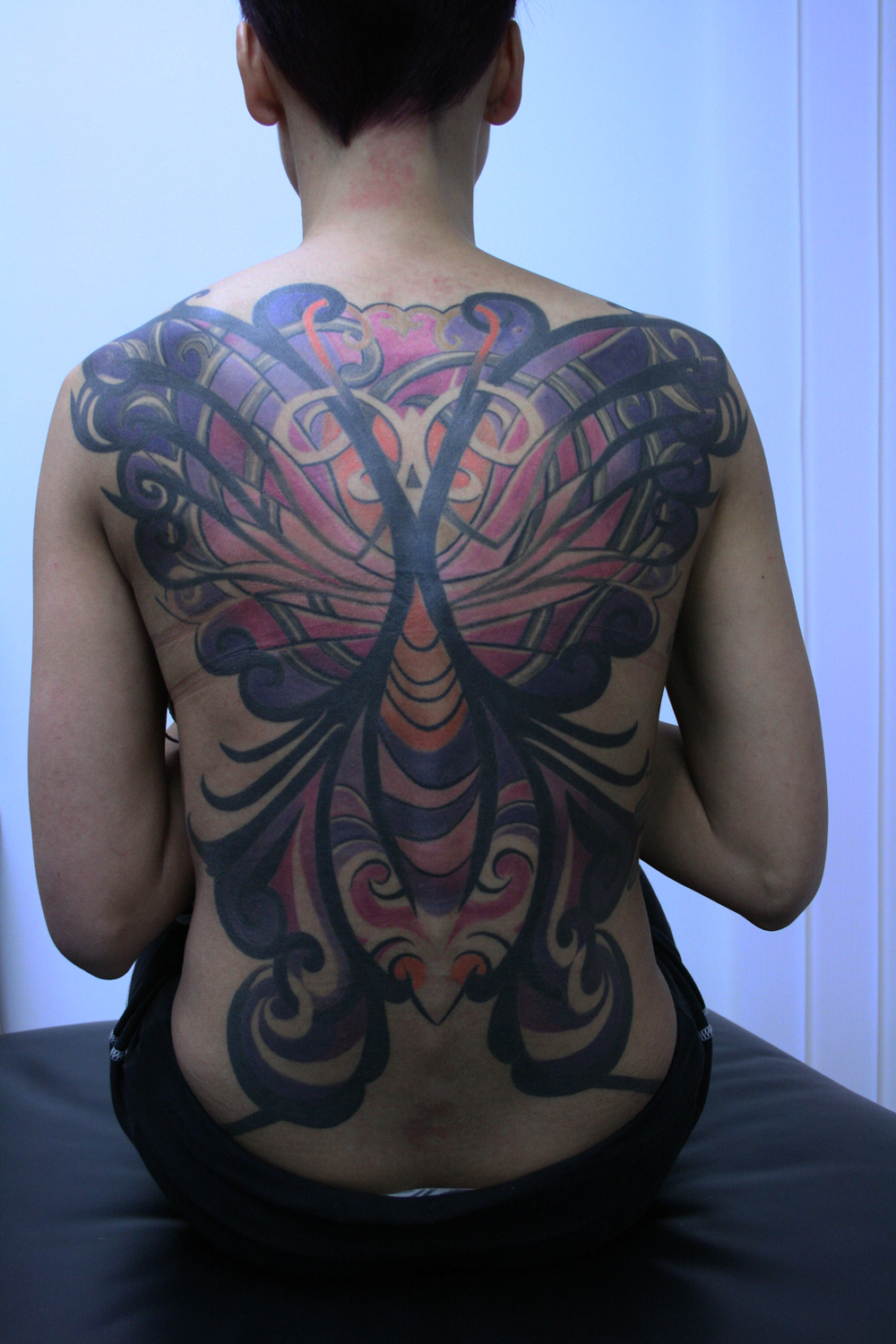 butterfly women tattoo1