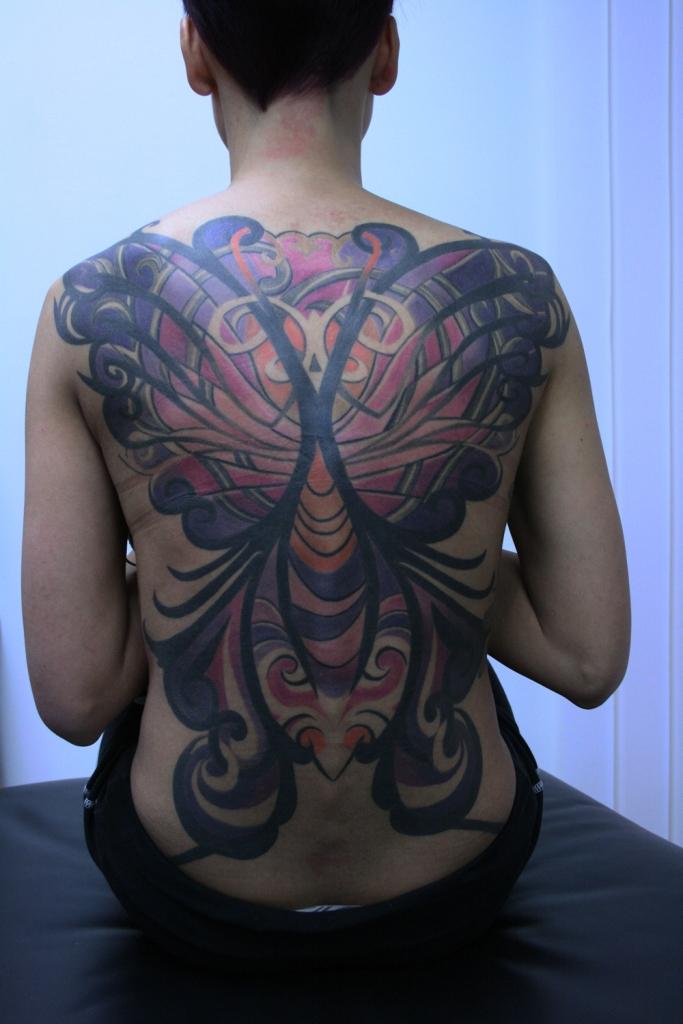 butterfly women tattoo1