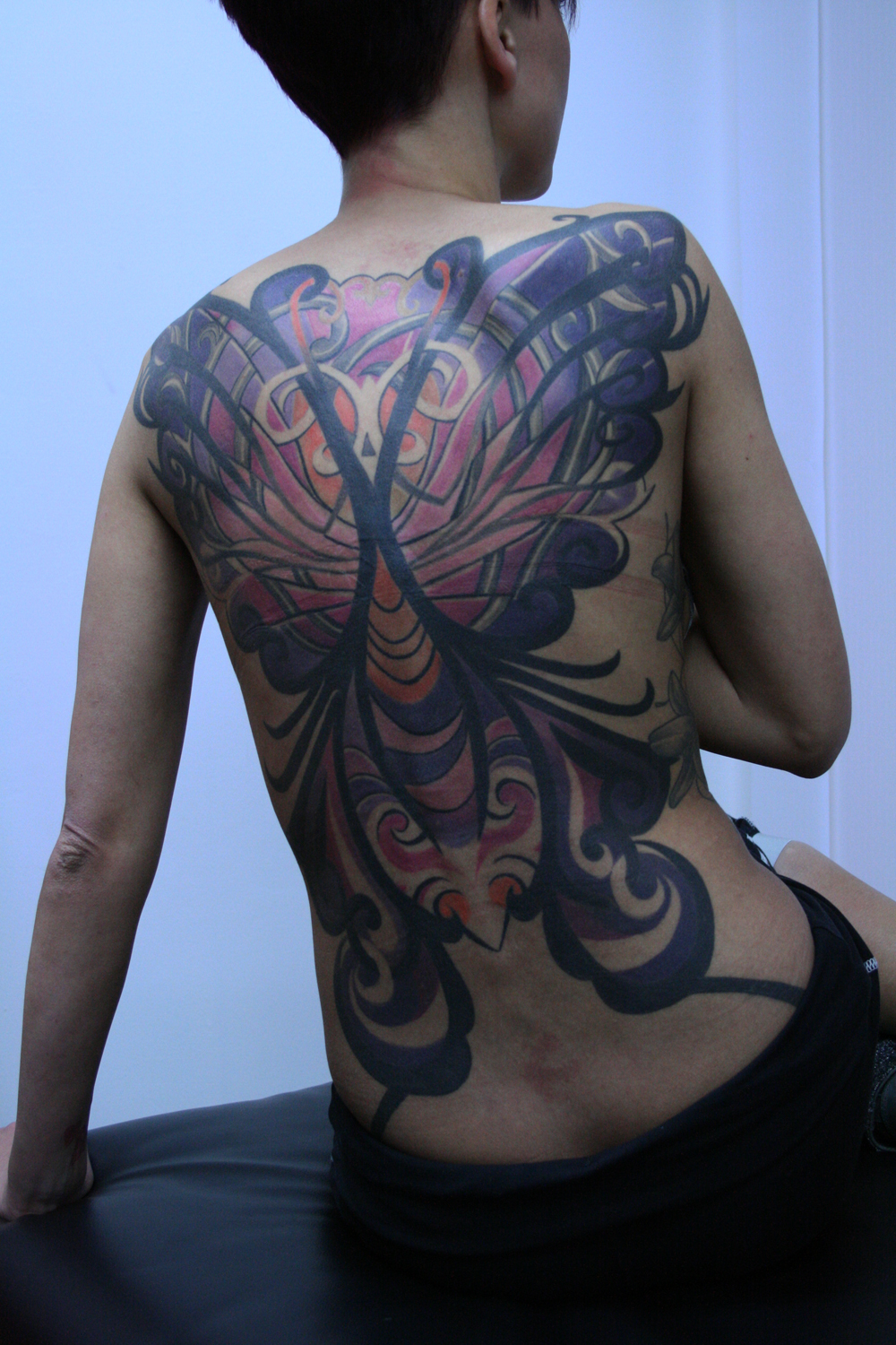 butterfly women tattoo2