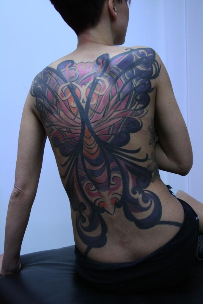 butterfly women tattoo2