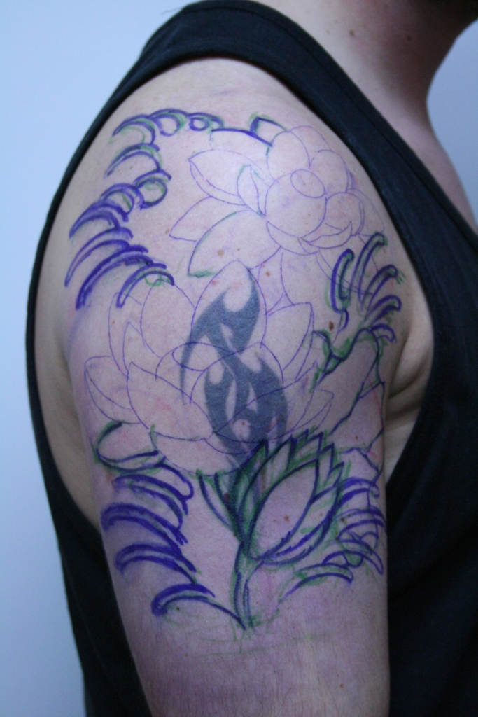 lotus cover up tattoo2