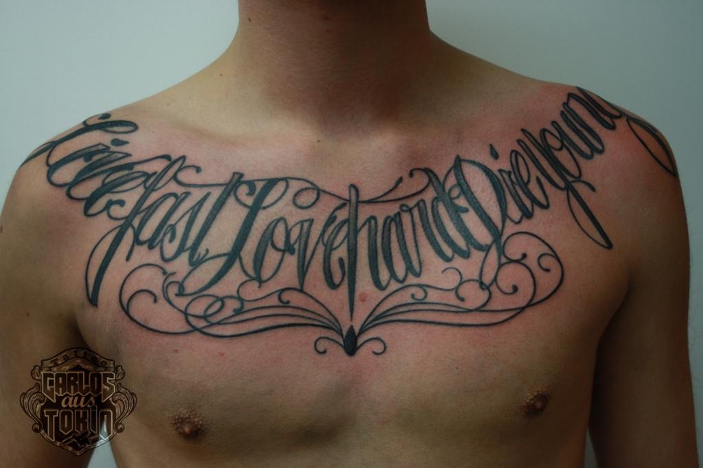 carlos aus tokio lettering tattoo