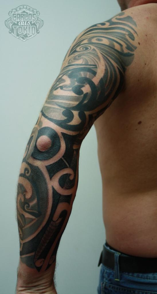 maori mask tattoo2