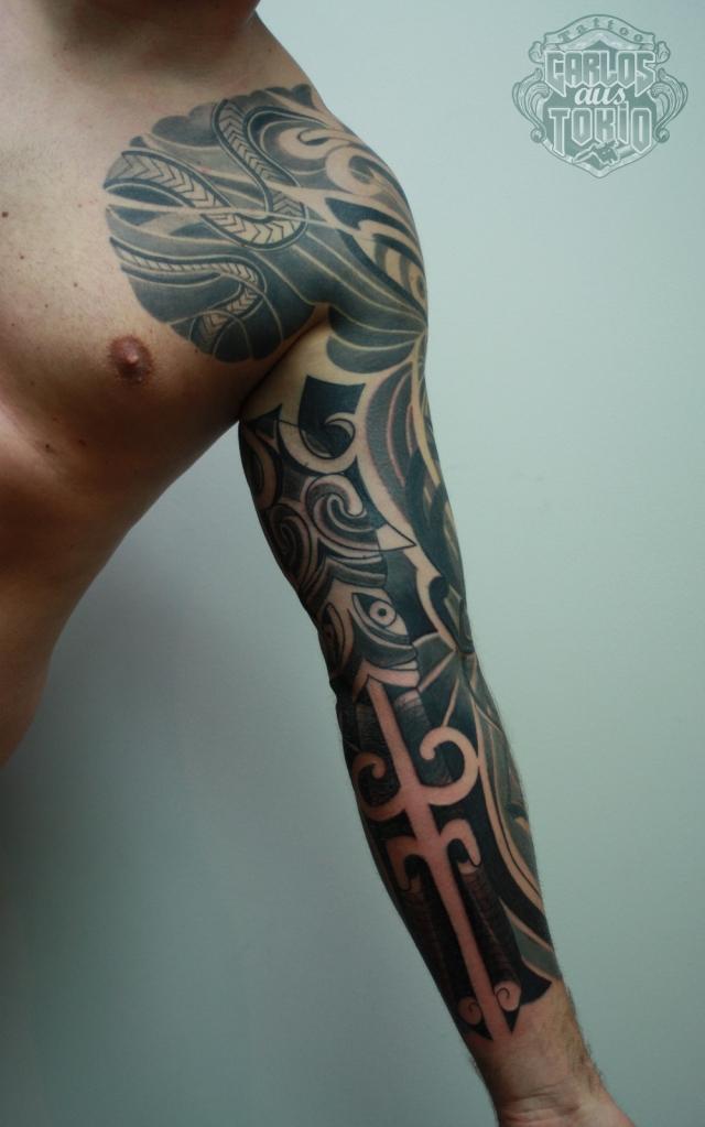 maori mask tattoo3