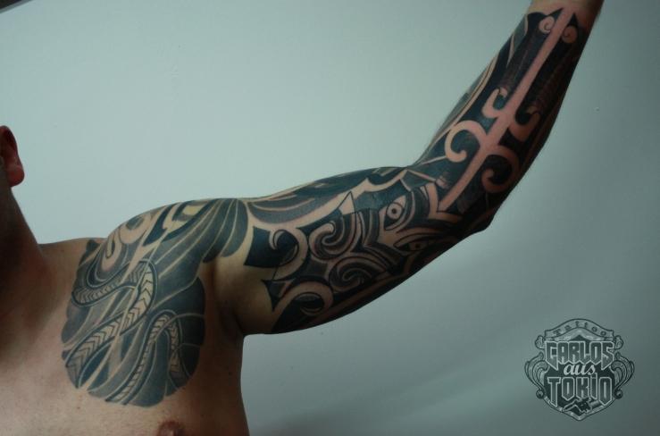 maori mask tattoo4
