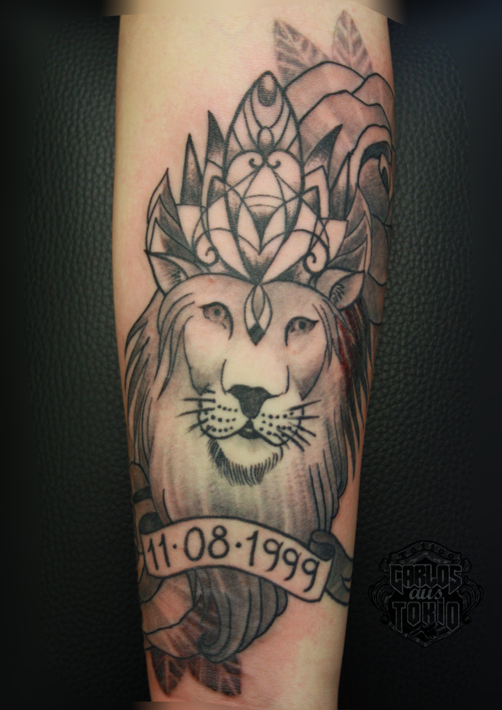 lion-ornamental-tattoo