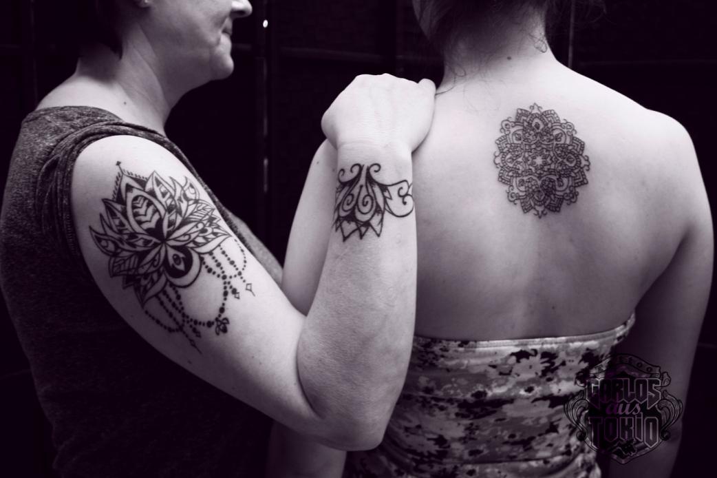 ornamental tattoo female11