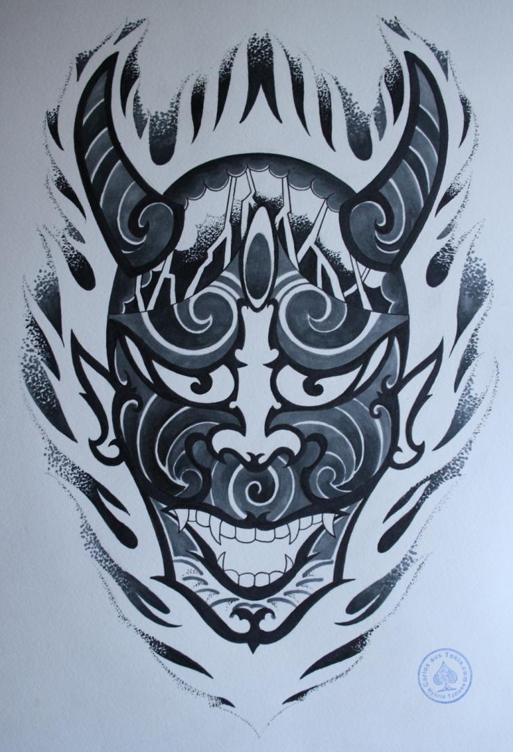 hannya hybrid tattoo 1
