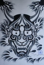 hannya hybrid tattoo 2