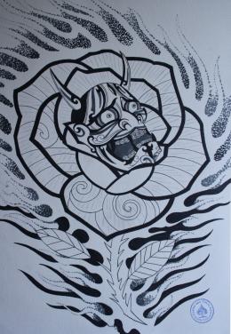 hannya hybrid tattoo 3