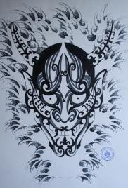 hannya hybrid tattoo 4