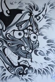 hannya hybrid tattoo 5