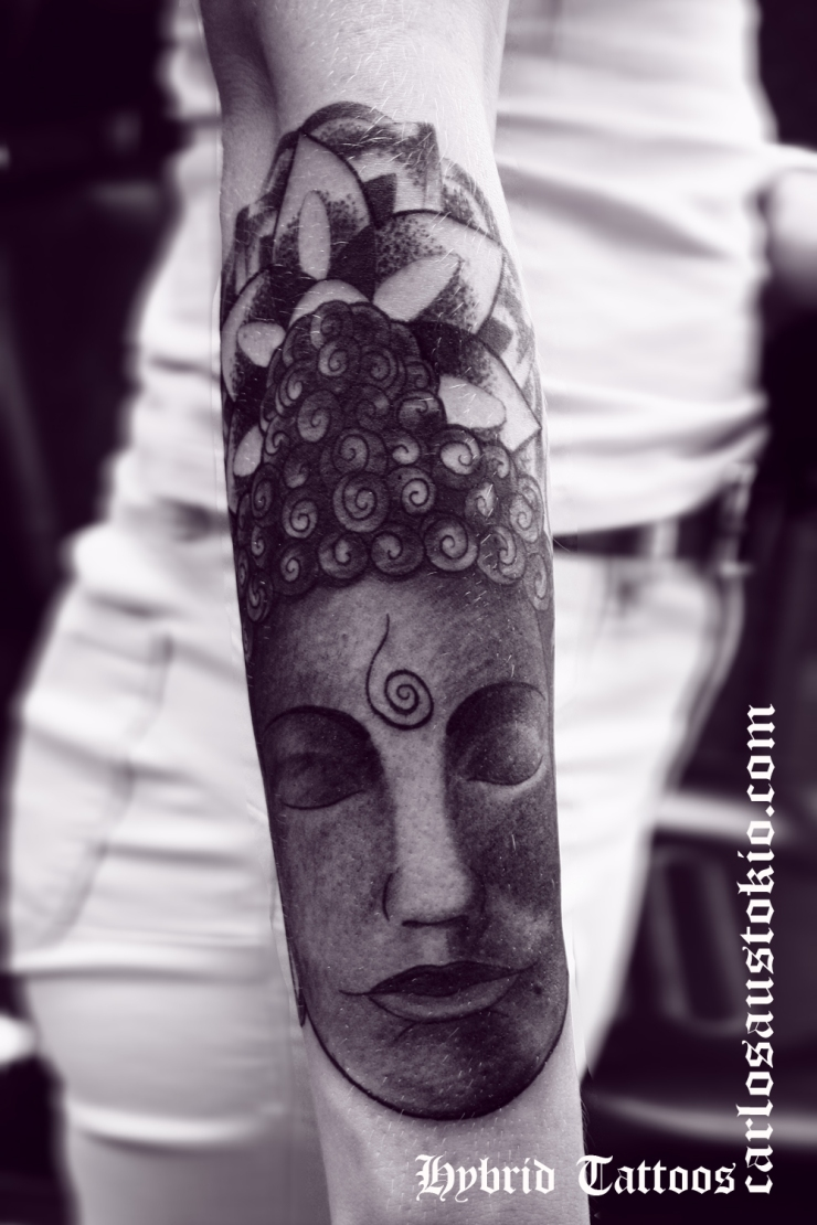 buddha head tattoo carlos aus tokio ornamental 1
