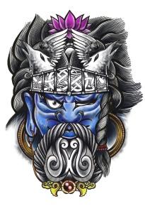 Odin Fudō-Myō-Ō Carlos aus Tokyo Cologne Tattoo 2
