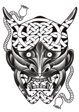 Hannya Tattoo Carlos aus Tokyo Cologne 4